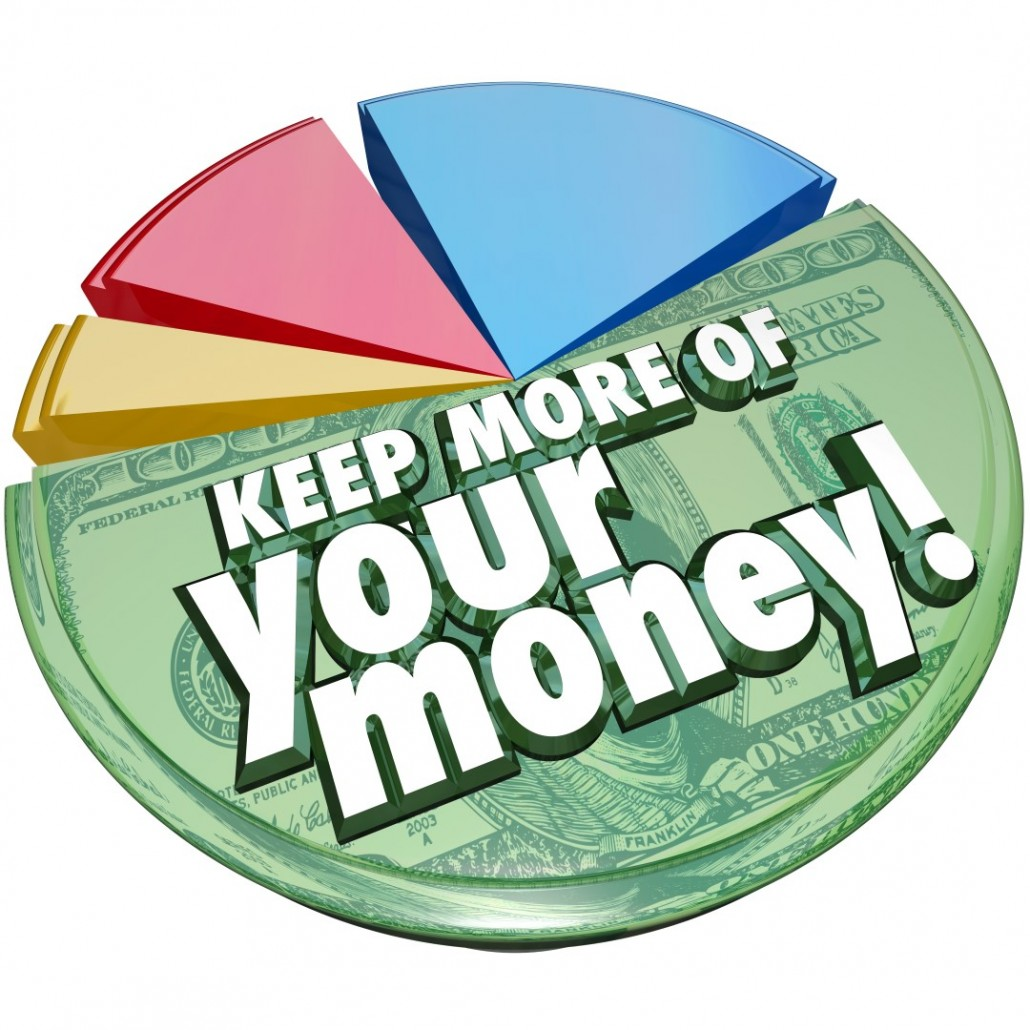 Keep More of Your Money Pie Chart Taxes Fees Costs Higher Percen