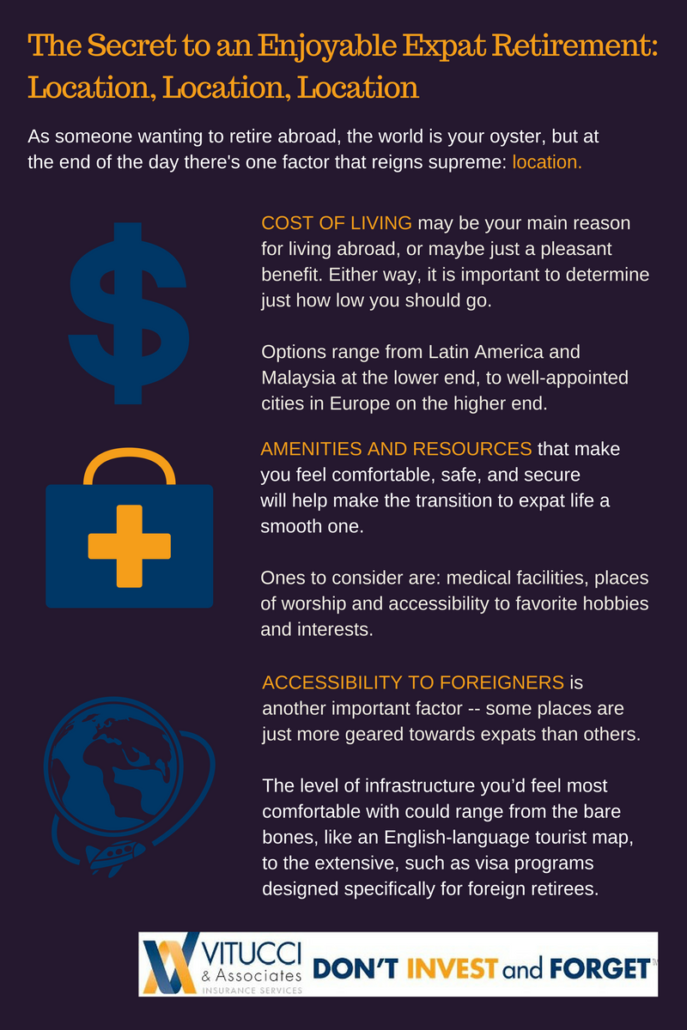 Vitucci Secret To Expat Retirement Infographic