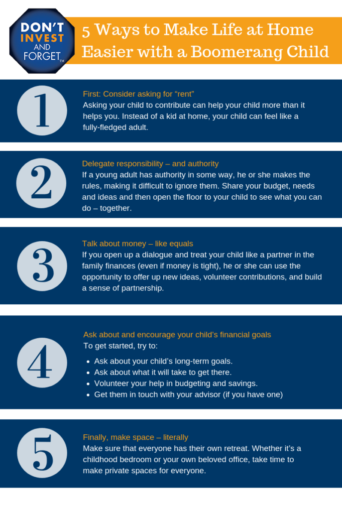 5 Ways to Make Life at Home Easier with a Boomerang Child Infographic UPDATED