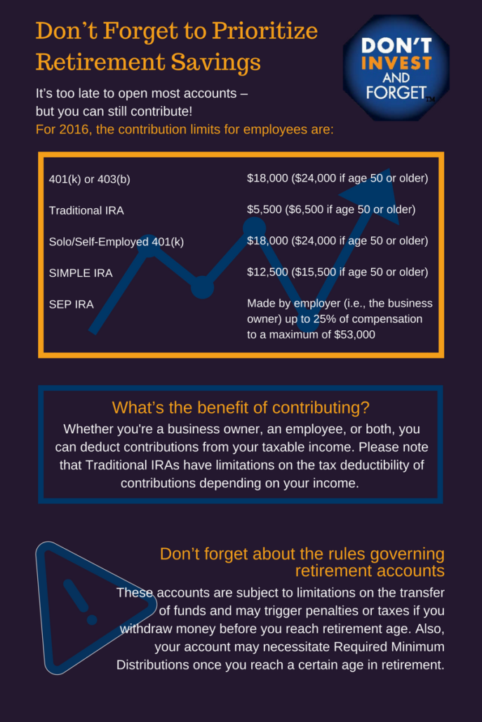 5 - Don't Forget to Prioritize Retirement Savings Infographic