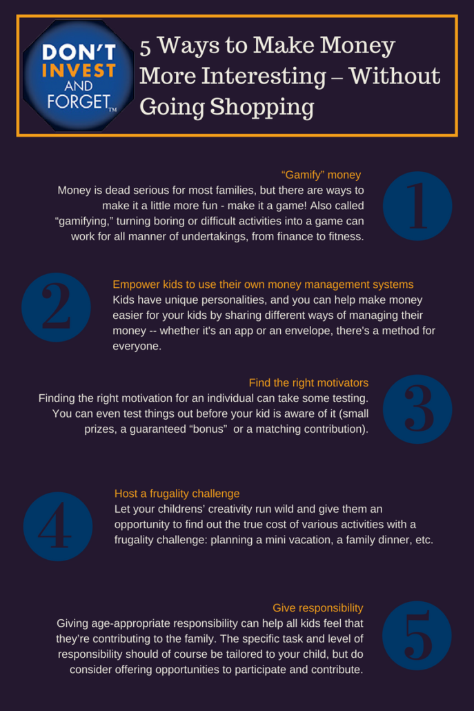 3 - 5 Ways to Make Money More Interesting Without Going Shopping - Infographic
