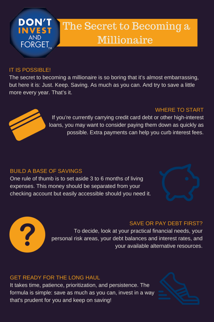 4 - The Secret To Becoming a Millionaire - Infographic