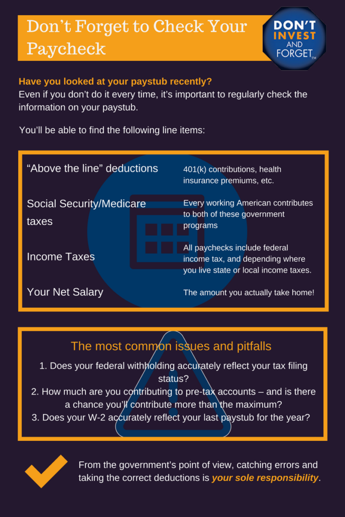 5 - Don't Forget to Check your Paycheck - Infographic