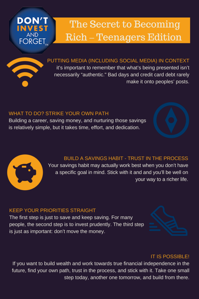 4 - The Secret To Becoming Rich - Teenager Edition - Infographic
