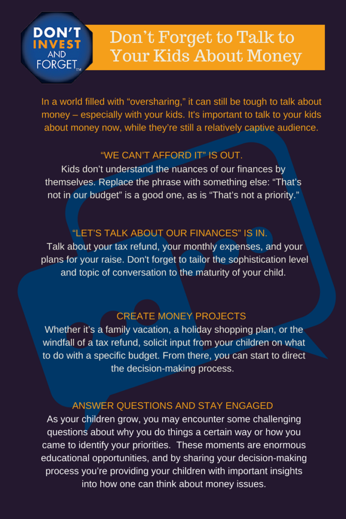 Dont Forget to Talk to Your Kids About Money - Infographic