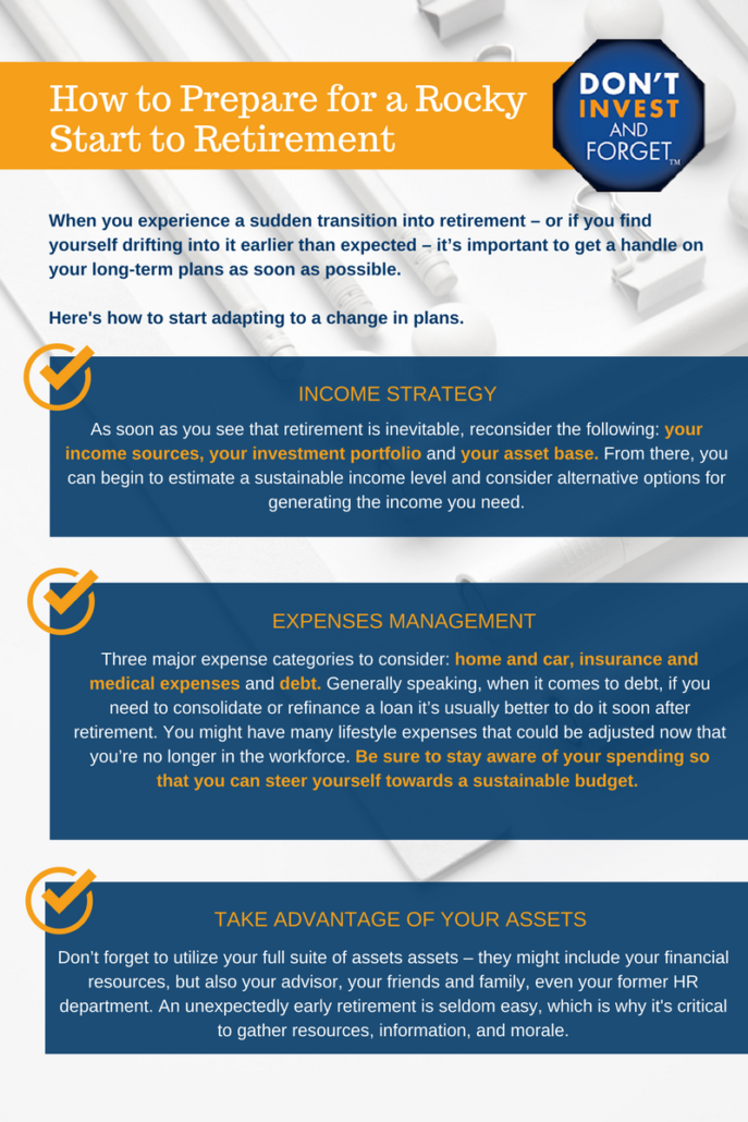2 How to Prepare for a Rocky Start to Retirement Infographic