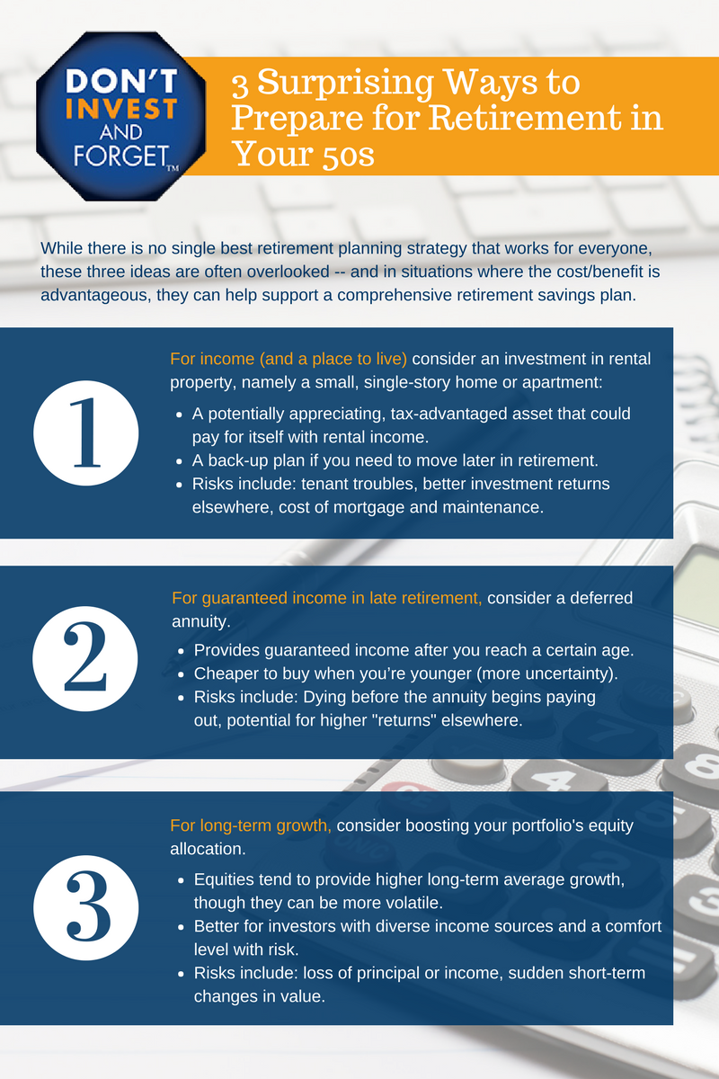 3- 3 Ways to Invest for Retirement in Your 50s Infographic