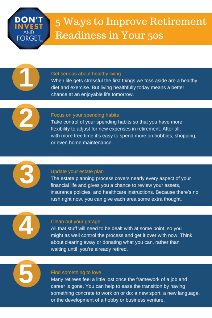3 5 Ways to Improve Retirement Readiness in Your 50s Infographic