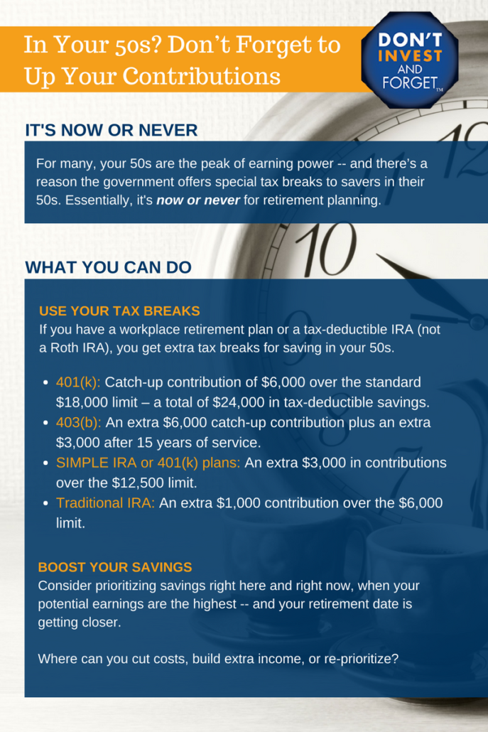 5- Don't Forget to Max Contributions In Your 50s Infographic