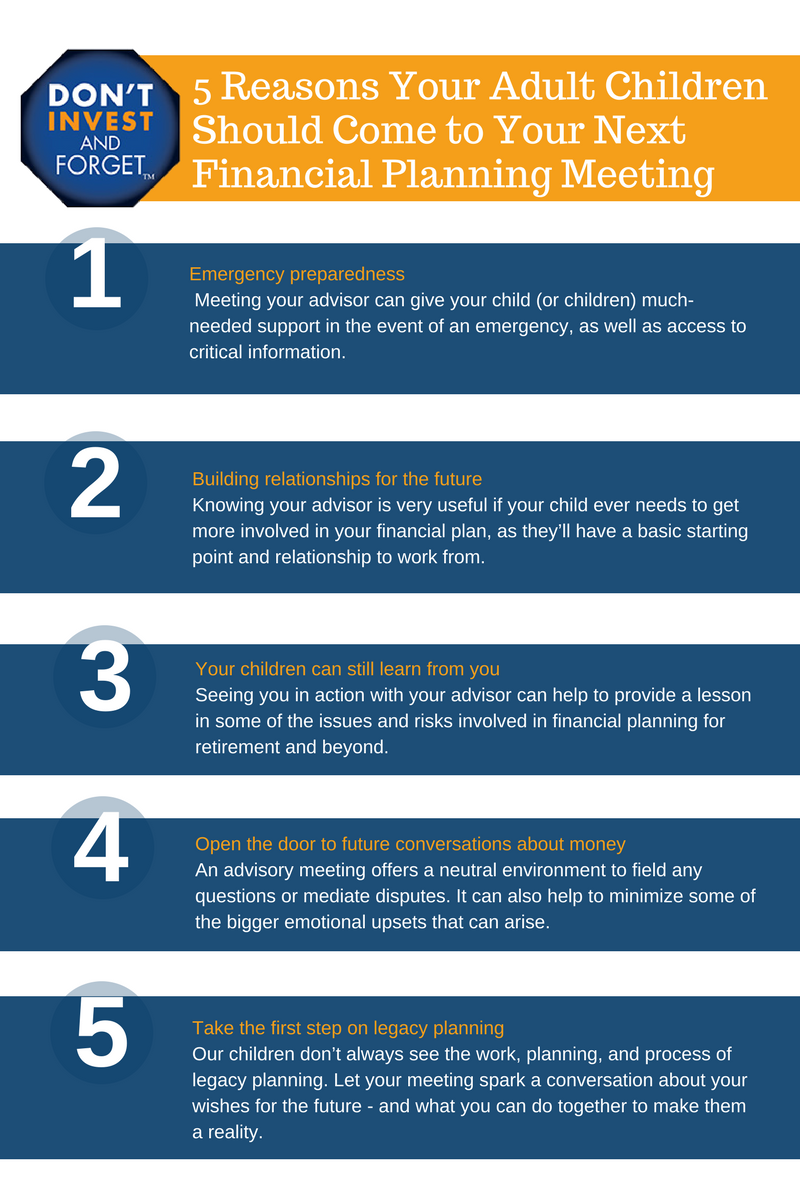 3 5 Reasons Your Adult Children Should Come to Your Next Financial Planning Meeting Infographic