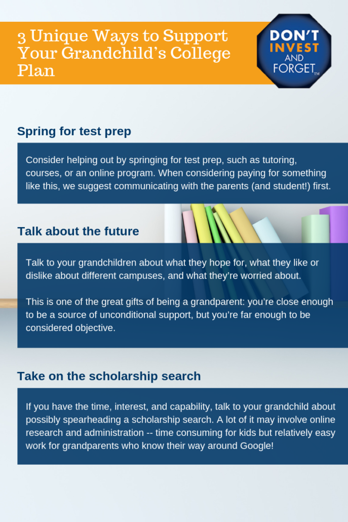 3 Unique Ways to Boost Your Grandchild's College Plan Infographic